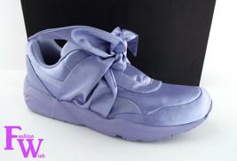 New PUMA RIHANNA Size 9 FENTY Purple Satin Bow Sneakers Shoes image 2