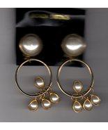 Clip on pearl bangle earrings - $2.95