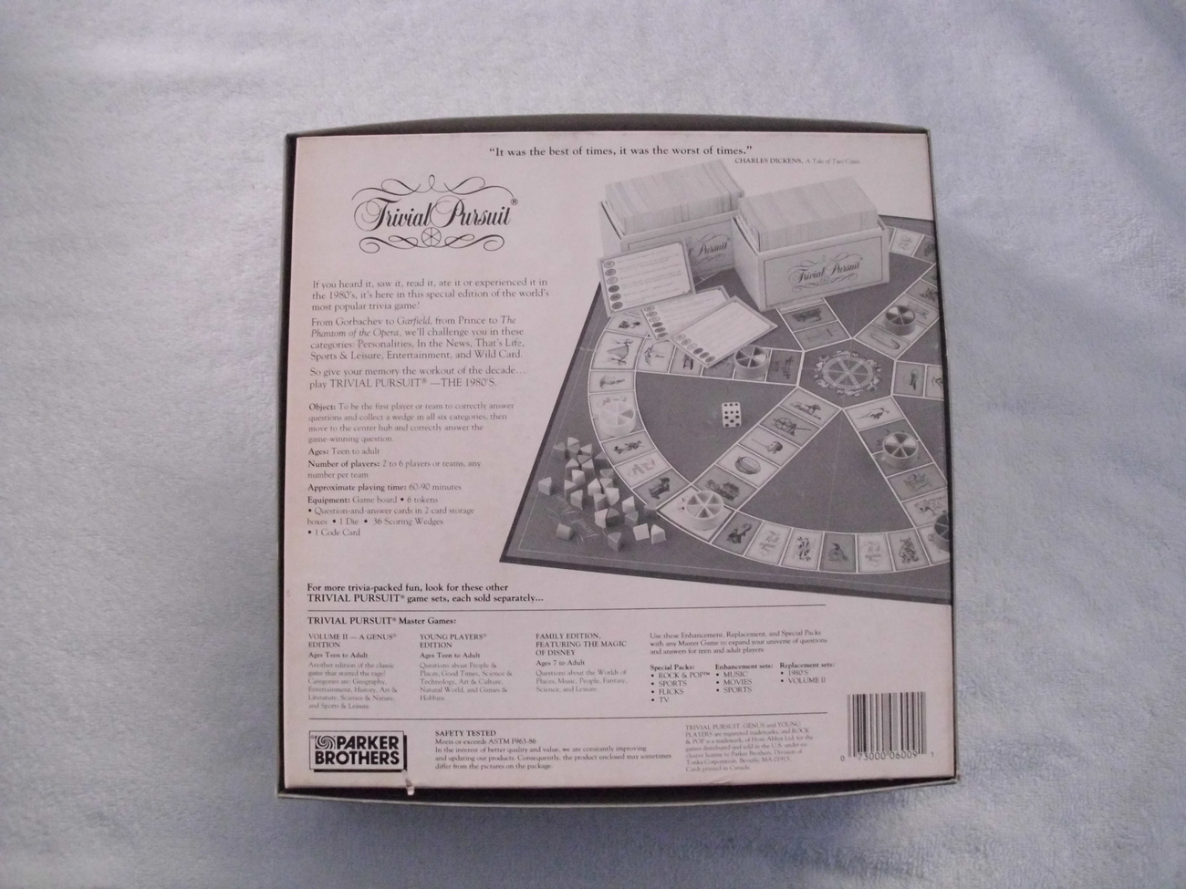 Trivial Pursuit The 80'S Master Edition