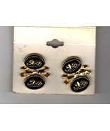 Clip on Earrings - Black and Gold Elephants - $2.95