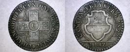 1827 Swiss Cantons Freiburg 1 Batzen World Coin - Switzerland - $59.99