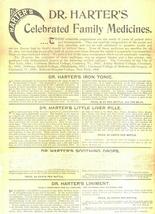 Dr Harter's bitters advertising sheet 1860 patent medicine antique ephemera - $14.00