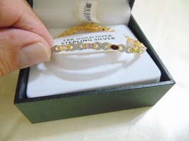 Macy's 18k Gold/Sterling Silver Genuine Gemstone Bracelet F604 $100 - $72.00