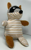 """Best Made Toys Brown Knit Plush Striped Racoon Lovey 8"""" - $14.80"""