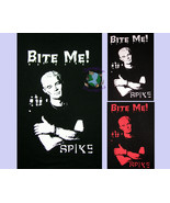 Spike Bite Me BLACK T-Shirt H5170 S-XL 50/50 tee Angel Buffy Vampire Slayer - $13.99