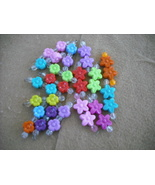 75 -Plastic Flower bead charms - $14.00