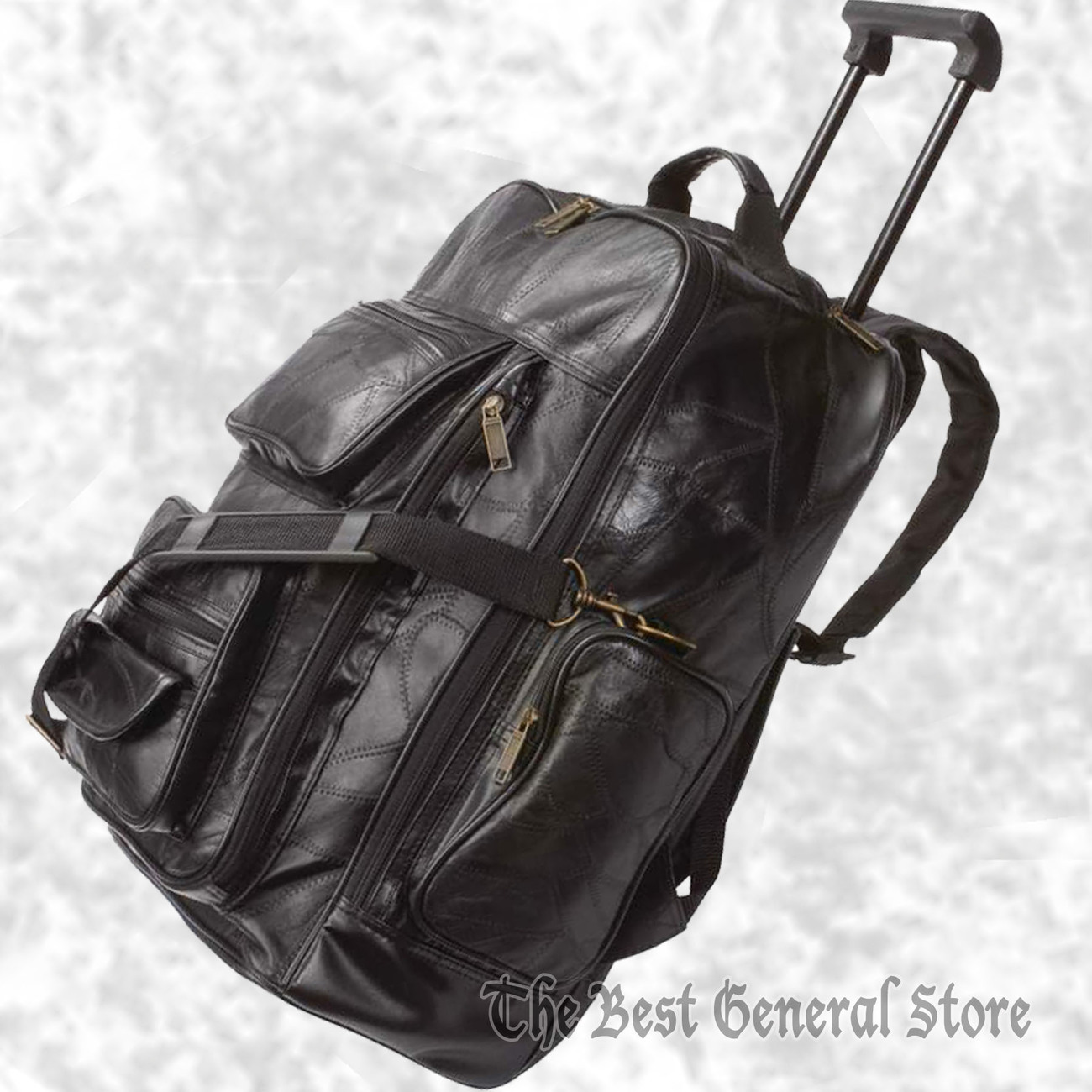 Leather trolley backpack lubprc 1800