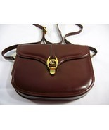 VINTAGE STYLE Chris baleen Italiana burgundy LEATHER GOLD BUCKLE STRIP H... - $129.00