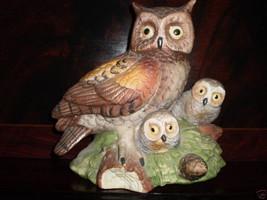 Vintage Pottery Owls Birds Figurine Ornament - $23.11