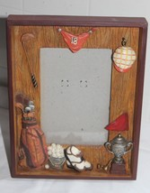Sonoma Shadow Box Golf Themed Picture Frame For 4 X 6 Inch Photo New - $13.10