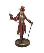PTC 9 Inch Steampunk Villain Lady with Gun and Cane Statue Figurine - $34.84