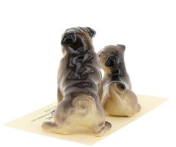 Hagen Renaker Dogs Pug Mama and Baby Tan Ceramic Figurine image 5