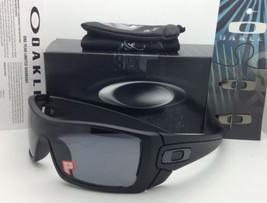 New Polarized OAKLEY Sunglasses BATWOLF OO9101-04 Matte Black w/ Grey Lenses