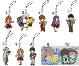 Cardcaptor Sakura Rubber Strap Phone Charm Keychain Keyring Cosplay Gift... - $4.93+