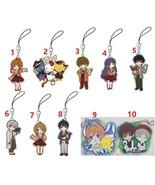 Cardcaptor Sakura Rubber Strap Phone Charm Keychain Keyring Cosplay Gift CLAMP - $4.93 - $4.94