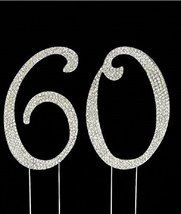 Birthday Crystal Cake Toppers Sparkling Bling Birthday Cake Toppers (60t... - $14.07
