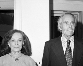 Henry Fonda And Paulette Goddard At Nyc Gallery Event 1976 16X20 Canvas ... - $69.99