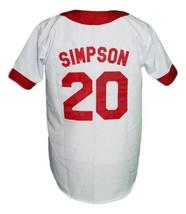 Homer Simpson Springfield Baseball Jersey Button Down White Any Size image 2