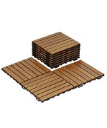 Furinno FG161033 Tioman Outdoor Floor Wood Tile Interlock 10 Piece/CTN, ... - $91.59