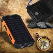 50000mah Waterproof Solar Power Bank 2 USB External Backup Battery With ... - $21.00