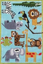 Momeni Rugs Lil' Mo Whimsy Collection, Kids Themed Hand Carved & Tufted Area Rug