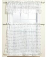 "3 Pc. Curtains Set: 2 Tiers (27"" x 36"") & Valance (54"" x 14"") FAMILY DRE... - $19.79"