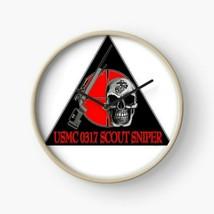 USMC 0317 MOS Scout Sniper Sticker Clock - $69.29
