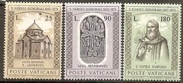 1973 St Narses Shnorhali Set of 3 Vatican Stamps Catalog Number 545-47 MNH