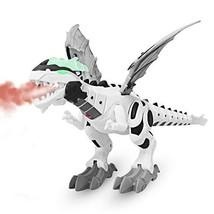 M AOMEIQI Electronic Dino Robot Light Up Walking Toy Mist Spray Dinosaur... - $29.93