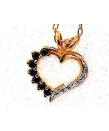 Blue Sapphire Heart Pendant natural with chain .25 carats - $62.25