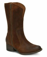 Born Mosse Rust Women BOOTS Distressed Suede Size 7.5 New In Box!!! - $148.45