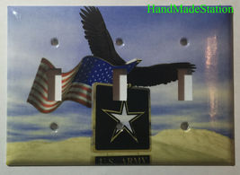 USA U.S. Army Eagle Flag Light Switch Power Outlet Cover Wall Plate Home Decor image 5
