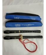 Two Peripole Black Angel Soprano Recorder PB6000 Cases & 1 neckstrap (by) - $14.85