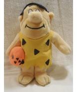 "Flintstones 1989 Nanco 10"" Fred Flintstone Halloween Plush with Jack-O-L... - $7.95"