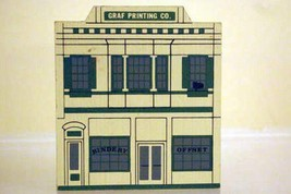 The Cats Meow Village 1988 Graf Printing Co. Liberty Street Series - $2.76