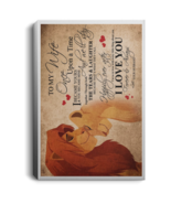 Lion King To My Wife I Love You Forever Always Portrait Canvas .75in Frame - $25.00+
