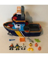 Fisher Price Imaginext Deep Sea Ocean Rescue Coast Guard Boat Ship Figures - $39.99
