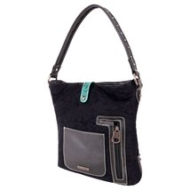 Montana West Buckle Collection Concealed Carry Bag Black Turquoise image 2