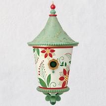 Poinsettia Beautiful Birdhouse 2018 Hallmark Ornament - $24.74