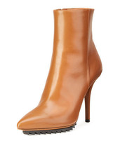 Givenchy Strettoia Leather Pointed-Toe Ankle Boot Caramel 38(8.5) MSRP:$1,175.00 - $750.00