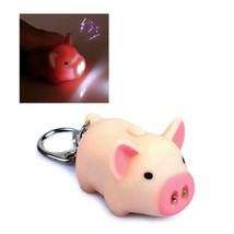 LED PIG KEYCHAIN with Light Sound Cute Animal Hog Oinking Noise Key Chai... - $6.95
