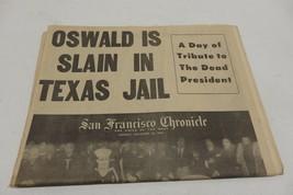 ORIGINAL SAN FRANCISCO CHRONICLE NOVEMBER 25, 1963 OSWALD SLAIN IN TEXAS... - $29.99