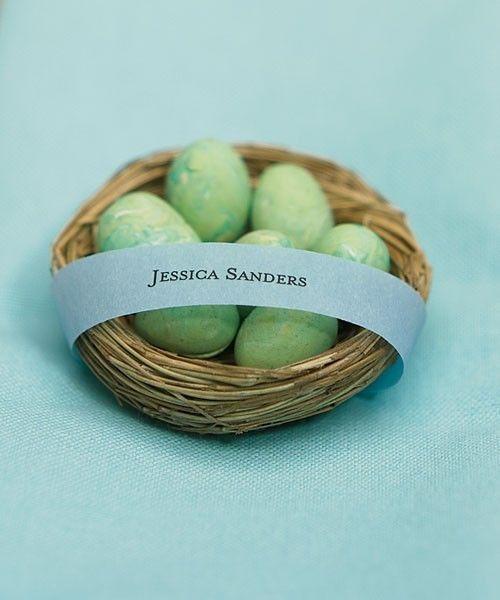 Miniature Bird Nest Wedding Favors Spring Natural Set 12 Decoration Container