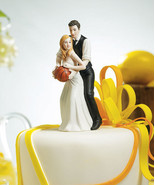 Basketball Dream Team Couple Sports Wedding Cake Topper CUSTOMIZATION av... - $41.99