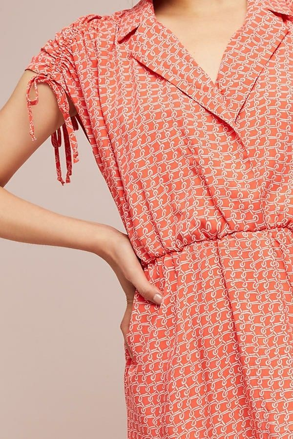 NWT Anthropologie Maeve Carlotta Ruched Shirt Dress $128 VAR SZs