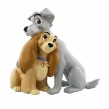 Extremely Rare! Walt Disney Lady and The Tramp Cuddle Figurine Statue  - $148.50