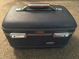 Vintage American Tourister Tiara Blue Train Case - $36.99