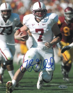 Toby Gerhart signed Stanford Cardinal 8x10 Photo- Tri Star Hologram