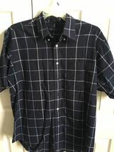 Nautica Mens button down short sleeve checkered plaid shirt Sz Large - $25.00