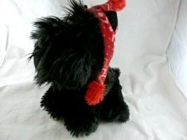 "Aurora Scotty Scottish Terrier Winter Christmas Red fleece Hat plush 10"" - $10.39"